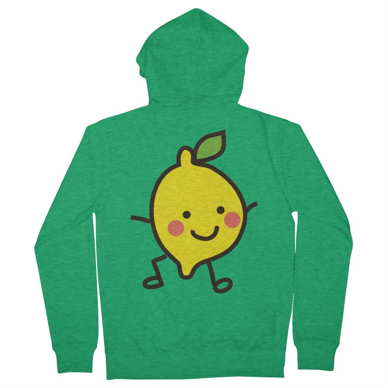 Summer Lemon Men's French Terry Zip-Up Hoody by libedlulo