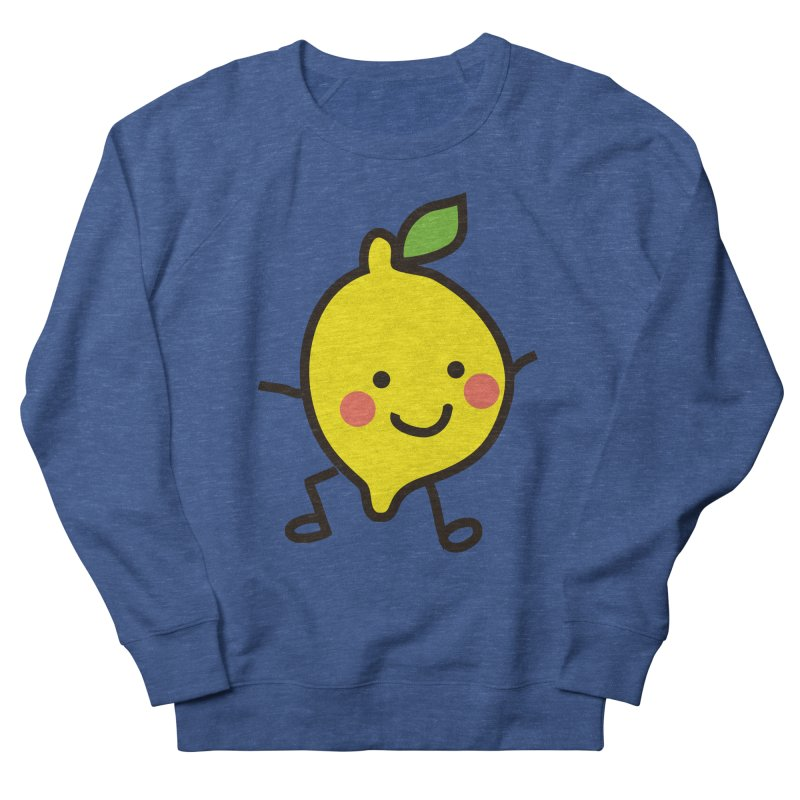 Summer Lemon Men's French Terry Sweatshirt by libedlulo