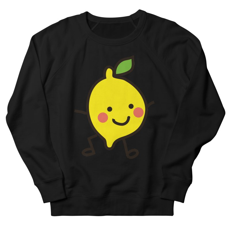 Summer Lemon Men's French Terry Sweatshirt by libedlulo