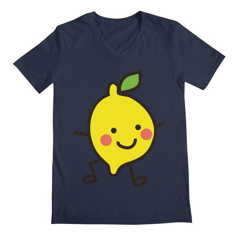 Summer Lemon Men's Regular V-Neck by libedlulo