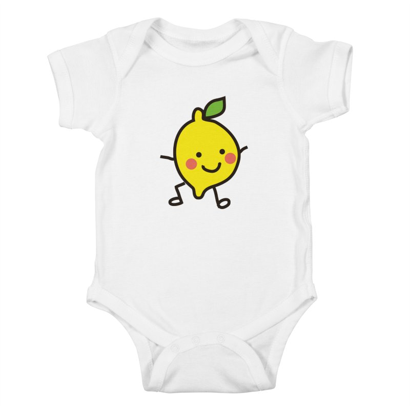 Summer Lemon Kids Baby Bodysuit by libedlulo