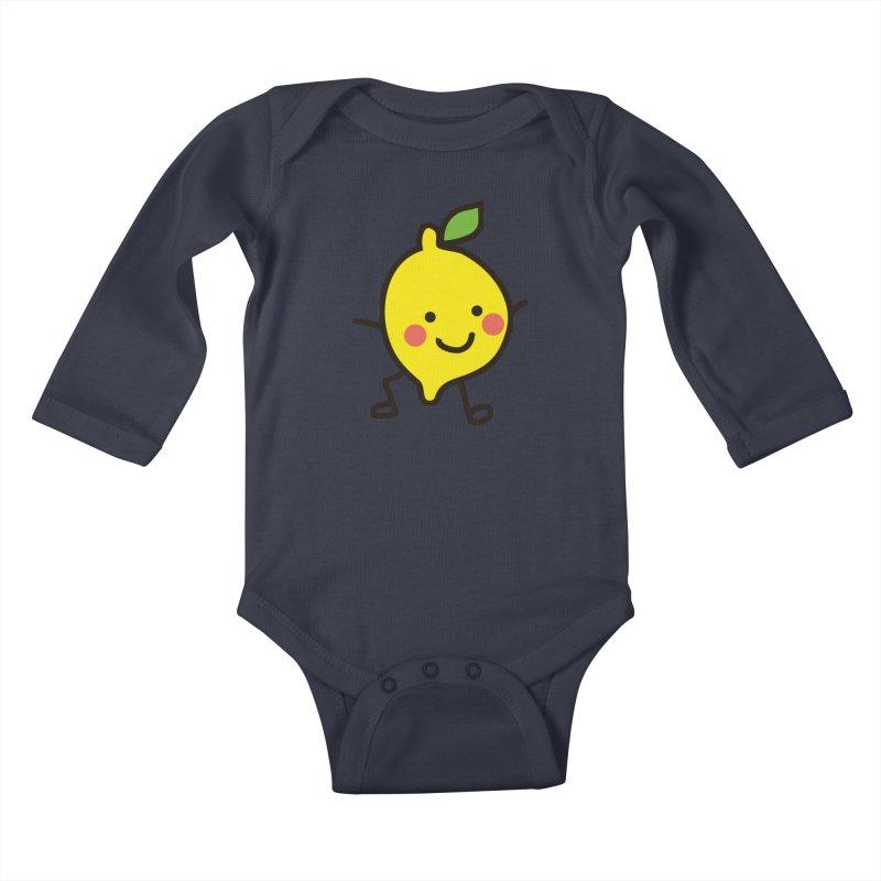 Summer Lemon Kids Baby Longsleeve Bodysuit by libedlulo