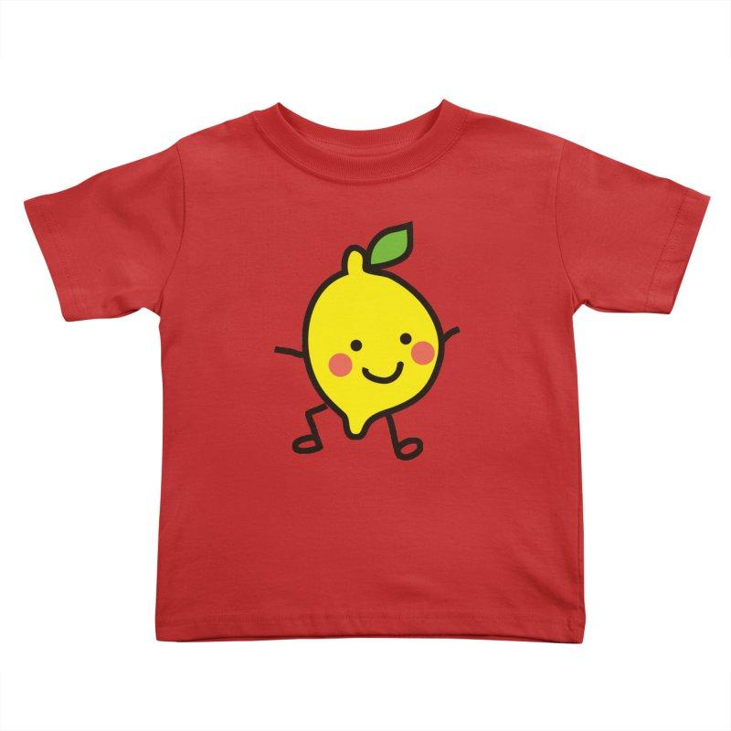 Summer Lemon Kids Toddler T-Shirt by libedlulo
