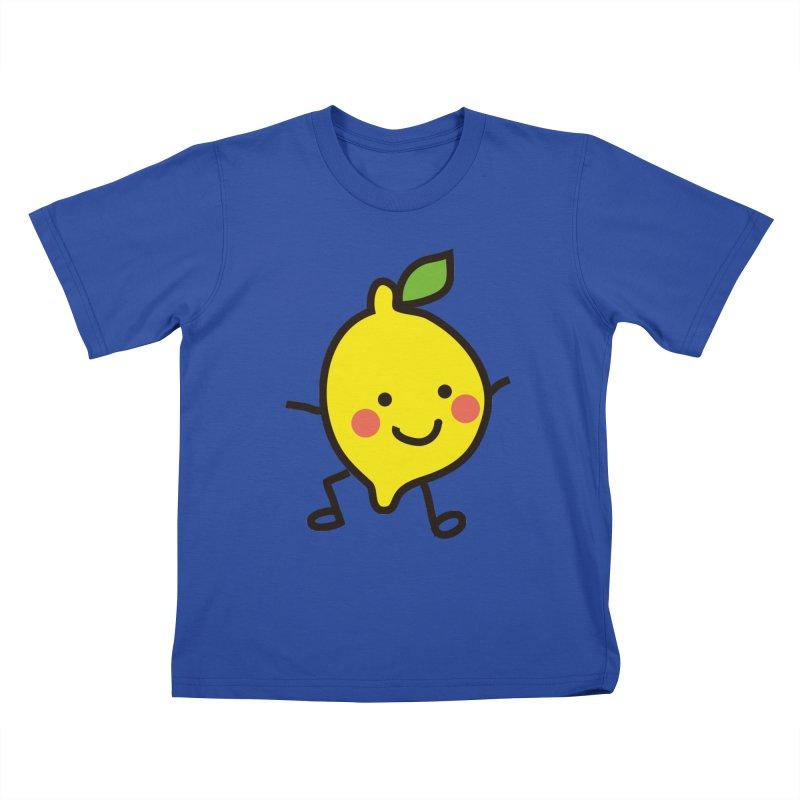 Summer Lemon Kids T-Shirt by libedlulo