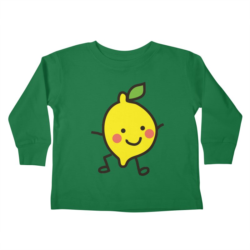 Summer Lemon Kids Toddler Longsleeve T-Shirt by libedlulo