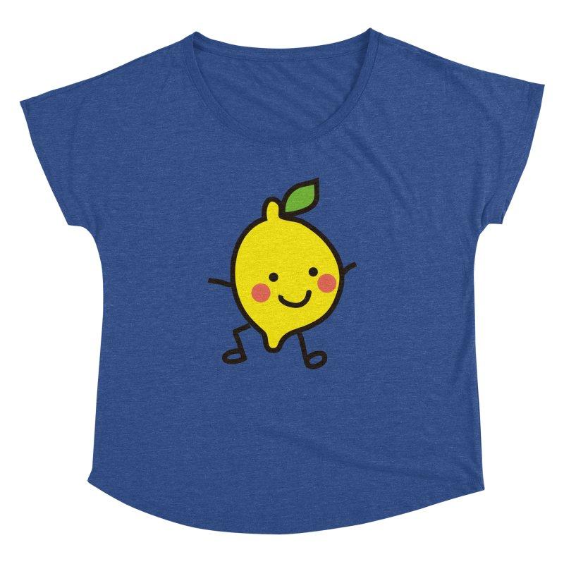 Summer Lemon Women's Dolman Scoop Neck by libedlulo
