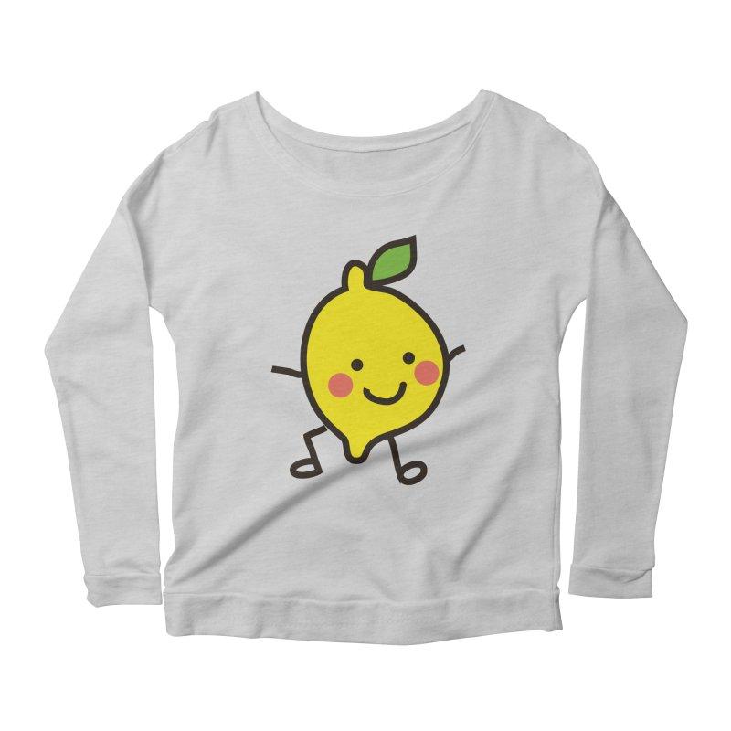 Summer Lemon Women's Scoop Neck Longsleeve T-Shirt by libedlulo