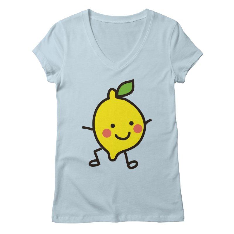 Summer Lemon Women's Regular V-Neck by libedlulo