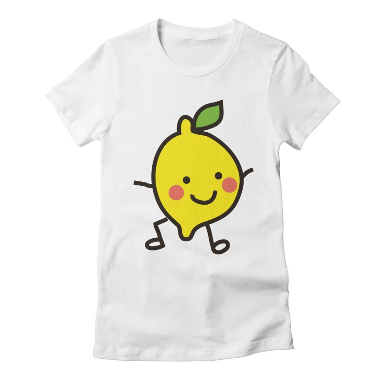 Summer Lemon Women's Fitted T-Shirt by libedlulo