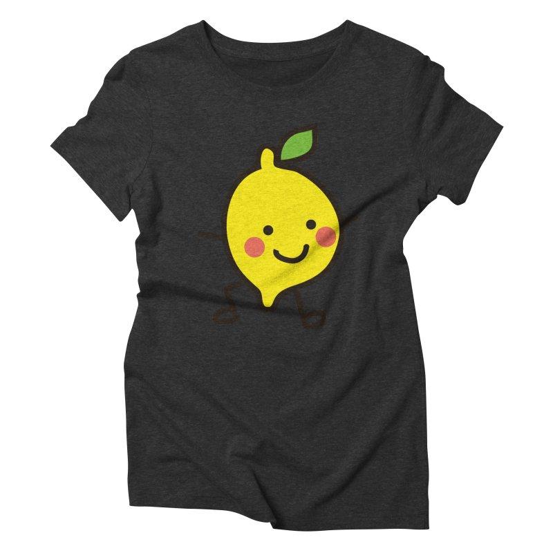 Summer Lemon Women's Triblend T-Shirt by libedlulo