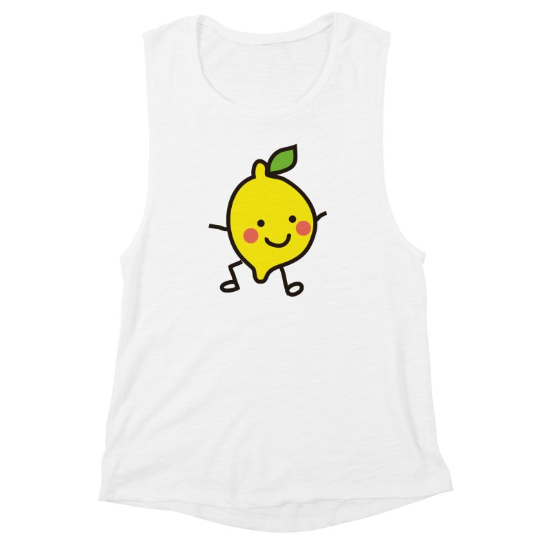 Summer Lemon Women's Muscle Tank by libedlulo