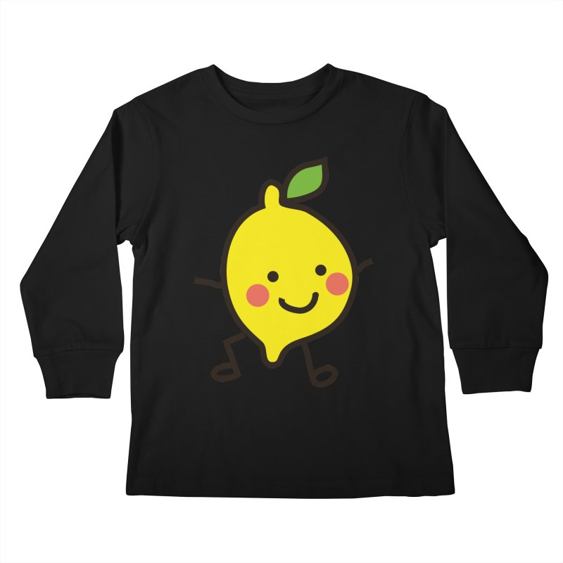 Summer Lemon Kids Longsleeve T-Shirt by libedlulo