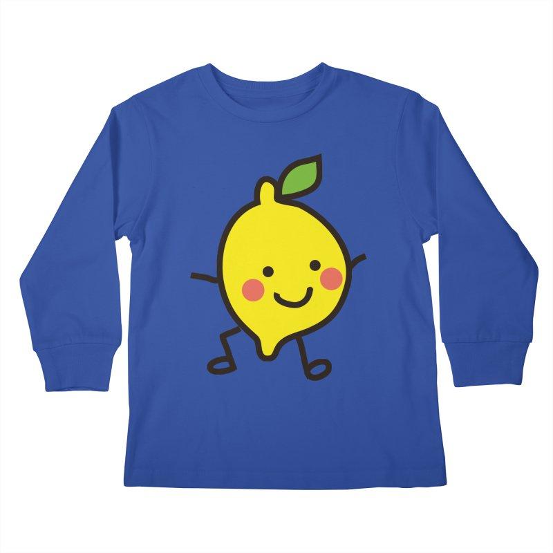 Summer Lemon Kids Longsleeve T-Shirt by libedlulo