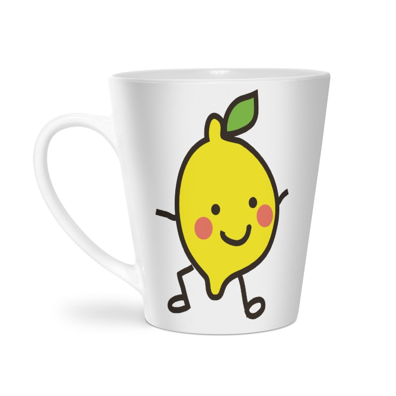 Summer Lemon Accessories Latte Mug by libedlulo
