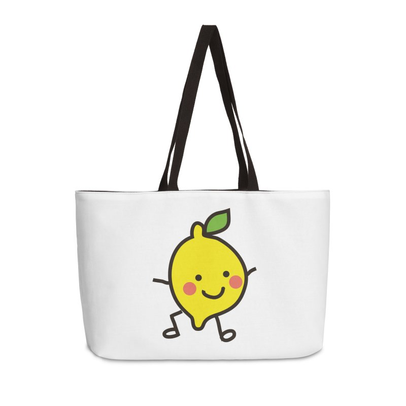 Summer Lemon Accessories Bag by libedlulo