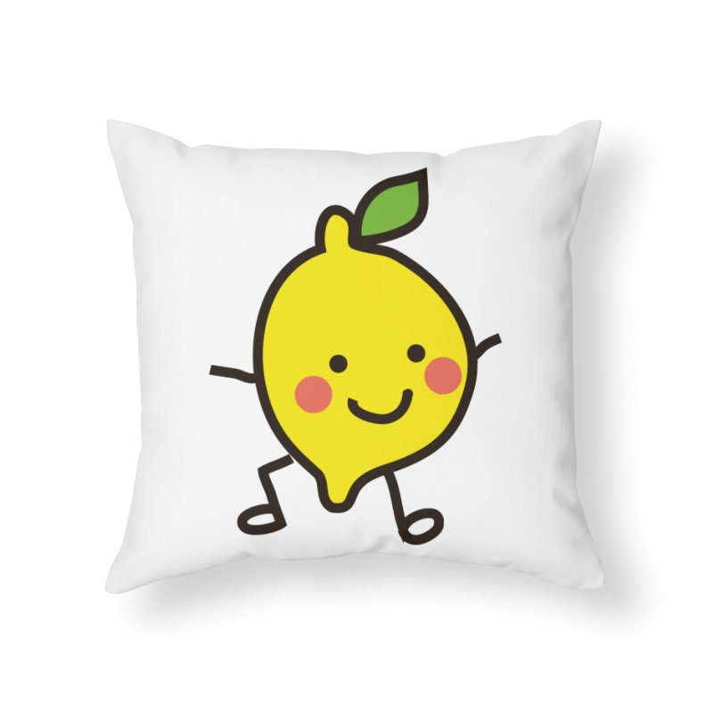 Summer Lemon Home Throw Pillow by libedlulo
