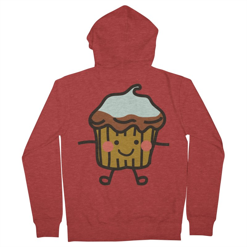Summer Cupcake Women's French Terry Zip-Up Hoody by libedlulo