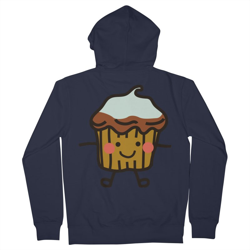 Summer Cupcake Men's French Terry Zip-Up Hoody by libedlulo