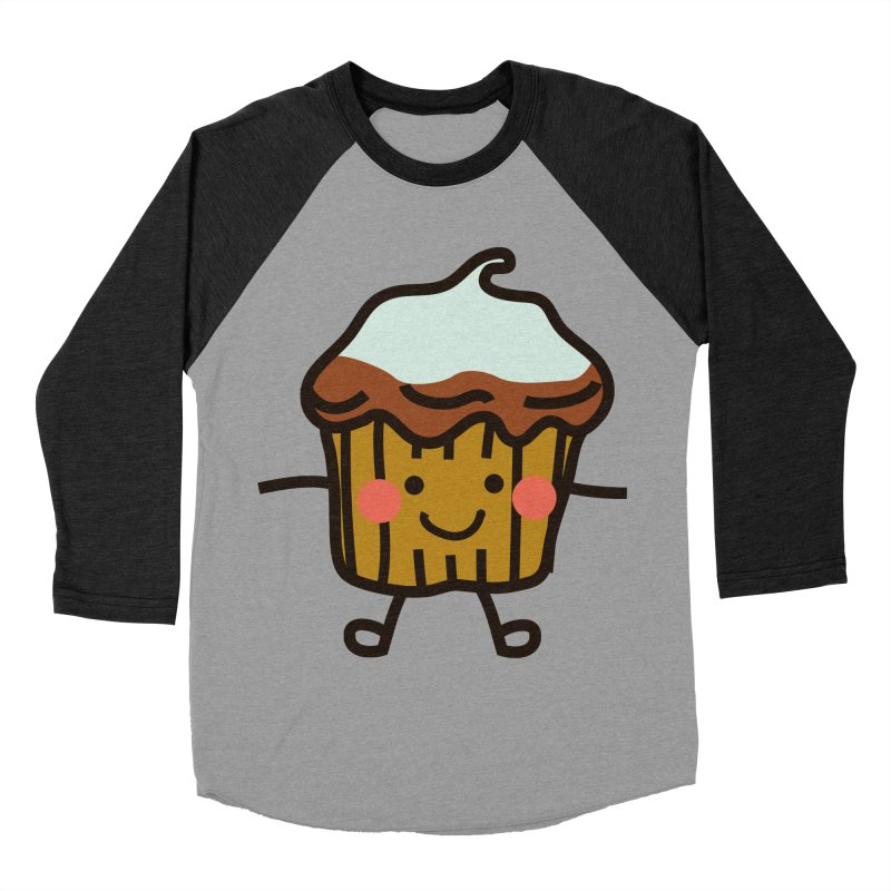 Summer Cupcake Women's Baseball Triblend Longsleeve T-Shirt by libedlulo
