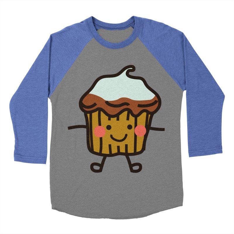Summer Cupcake Men's Baseball Triblend Longsleeve T-Shirt by libedlulo