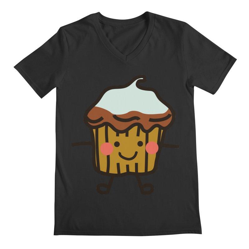 Summer Cupcake Men's Regular V-Neck by libedlulo