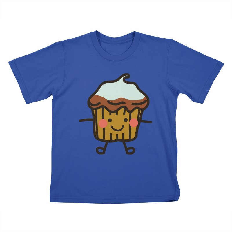 Summer Cupcake Kids T-Shirt by libedlulo
