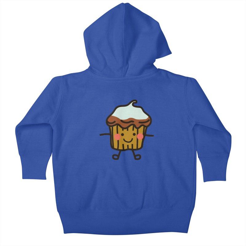 Summer Cupcake Kids Baby Zip-Up Hoody by libedlulo