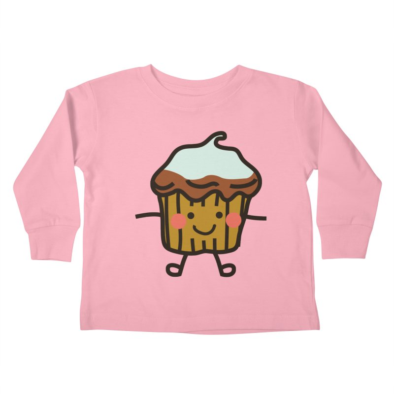 Summer Cupcake Kids Toddler Longsleeve T-Shirt by libedlulo