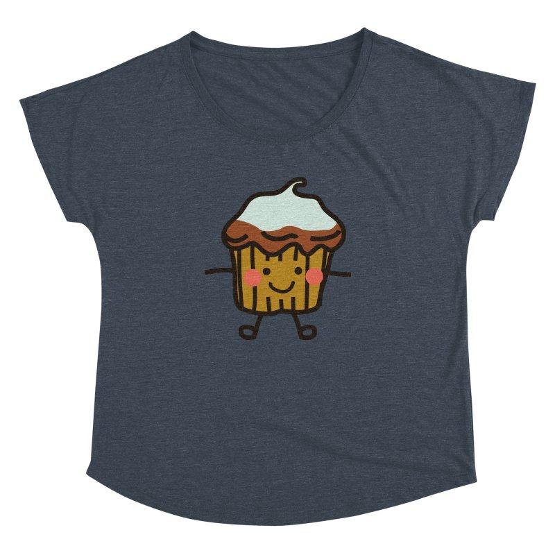 Summer Cupcake Women's Dolman Scoop Neck by libedlulo