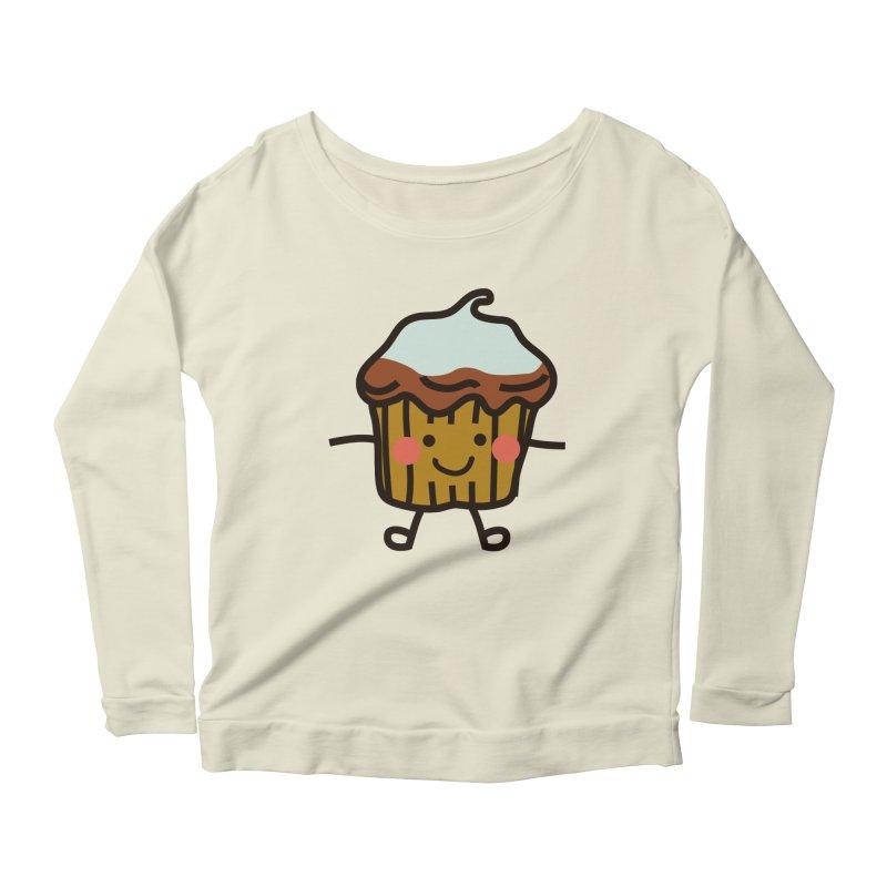 Summer Cupcake Women's Scoop Neck Longsleeve T-Shirt by libedlulo