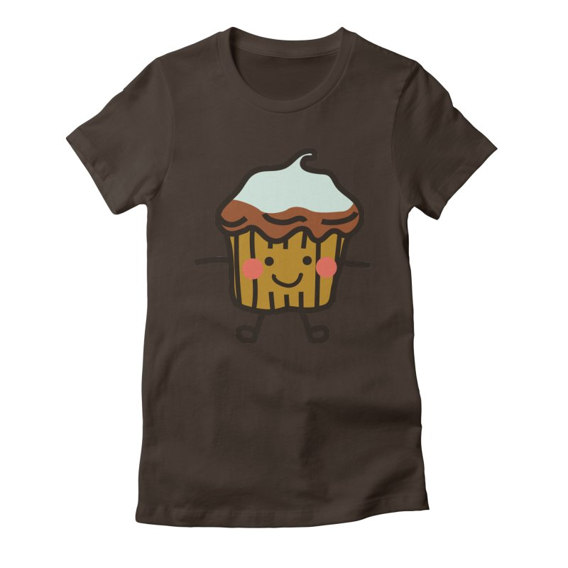 Summer Cupcake Women's Fitted T-Shirt by libedlulo