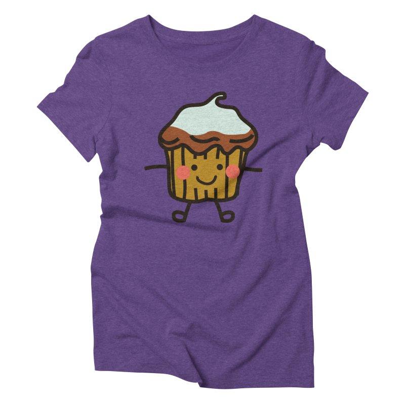 Summer Cupcake Women's Triblend T-Shirt by libedlulo