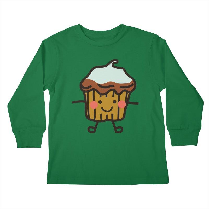 Summer Cupcake Kids Longsleeve T-Shirt by libedlulo