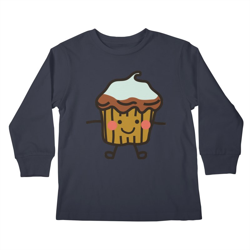 Summer Cupcake Kids Longsleeve T-Shirt by libedlulo