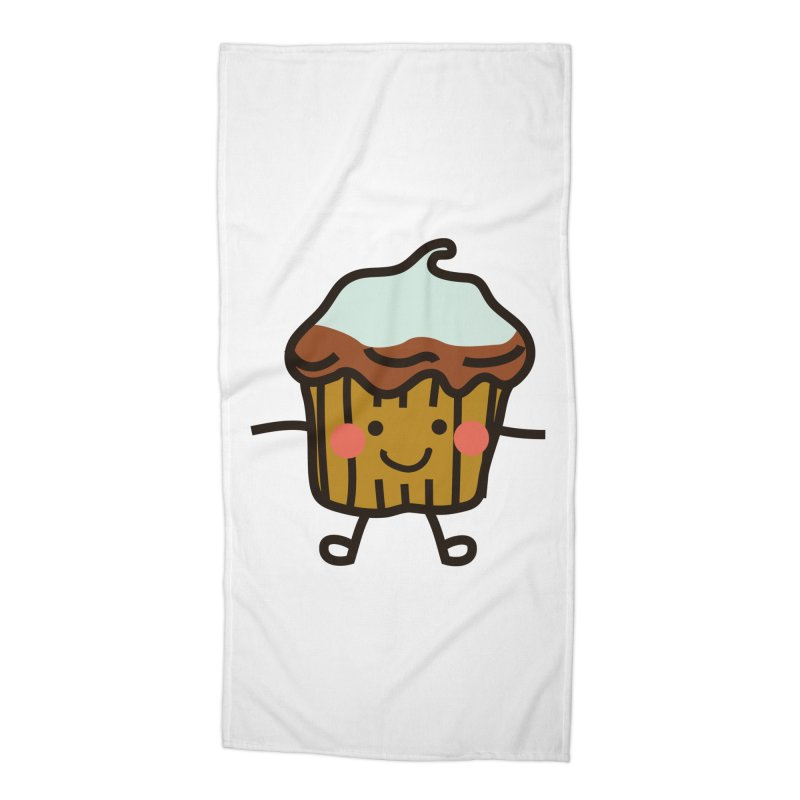 Summer Cupcake Accessories Beach Towel by libedlulo