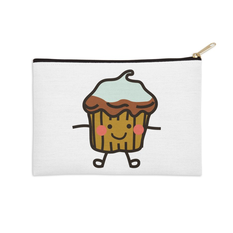 Summer Cupcake Accessories Zip Pouch by libedlulo