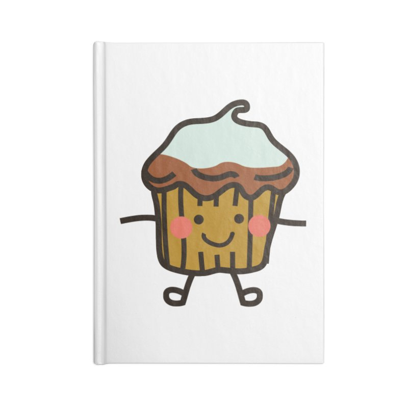 Summer Cupcake Accessories Lined Journal Notebook by libedlulo