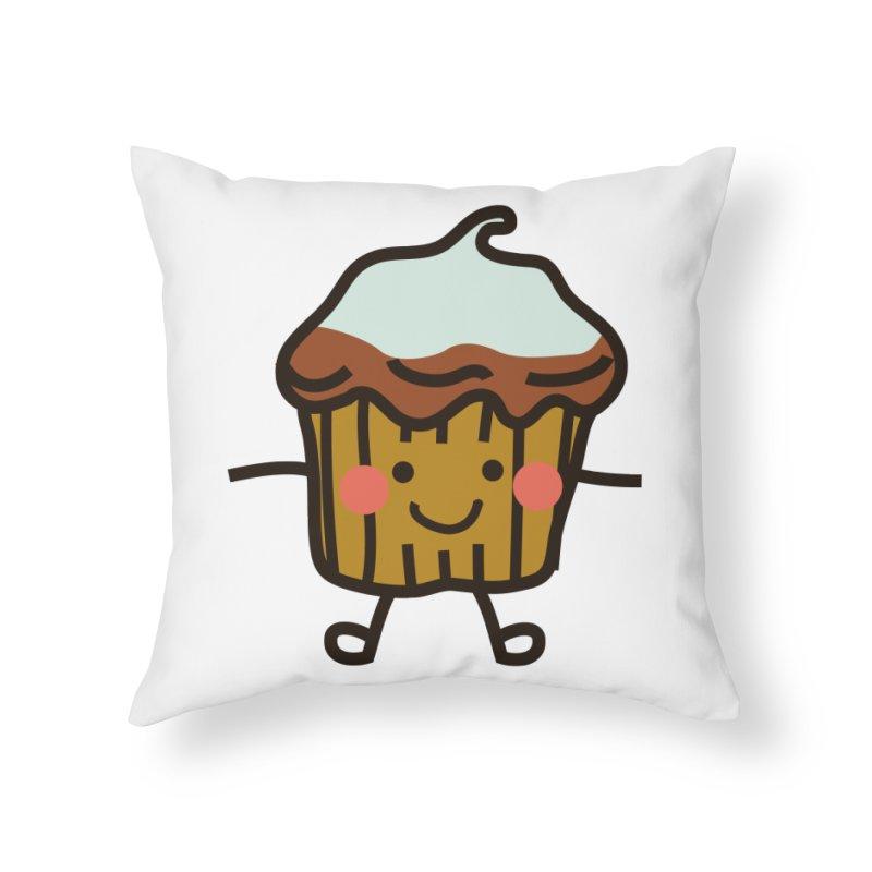 Summer Cupcake Home Throw Pillow by libedlulo