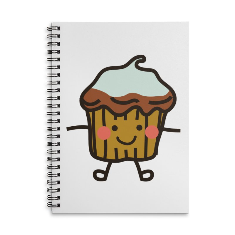 Summer Cupcake Accessories Lined Spiral Notebook by libedlulo