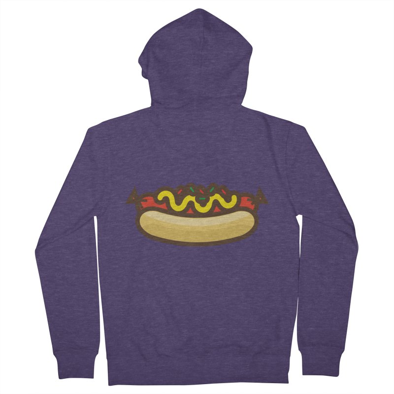 Summer Hotdog Men's French Terry Zip-Up Hoody by libedlulo