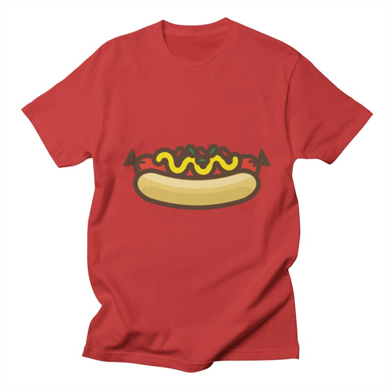 Summer Hotdog Men's T-Shirt by libedlulo