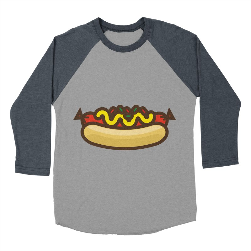 Summer Hotdog Men's Baseball Triblend Longsleeve T-Shirt by libedlulo