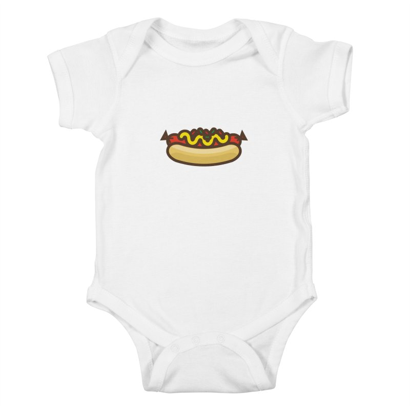 Summer Hotdog Kids Baby Bodysuit by libedlulo