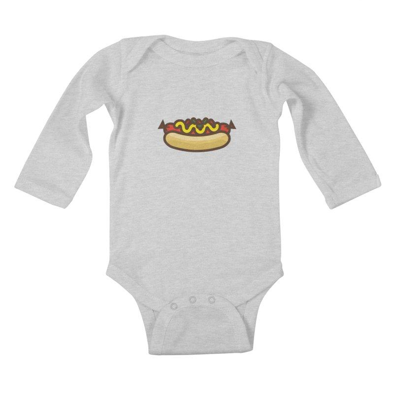 Summer Hotdog Kids Baby Longsleeve Bodysuit by libedlulo