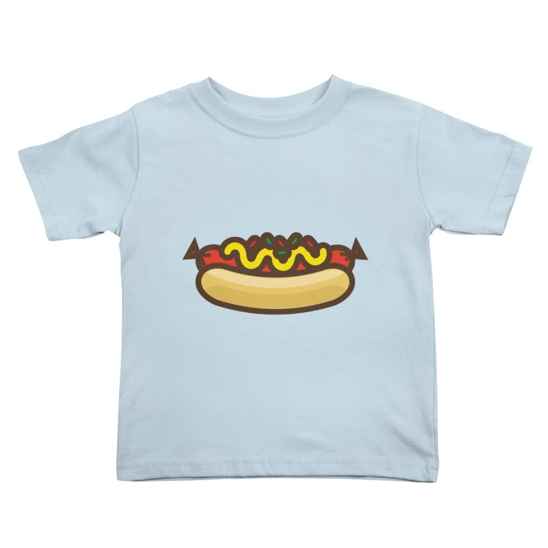 Summer Hotdog Kids Toddler T-Shirt by libedlulo