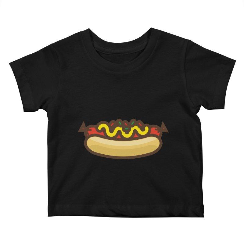 Summer Hotdog Kids Baby T-Shirt by libedlulo