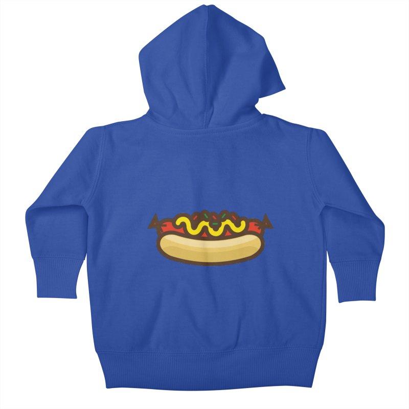 Summer Hotdog Kids Baby Zip-Up Hoody by libedlulo