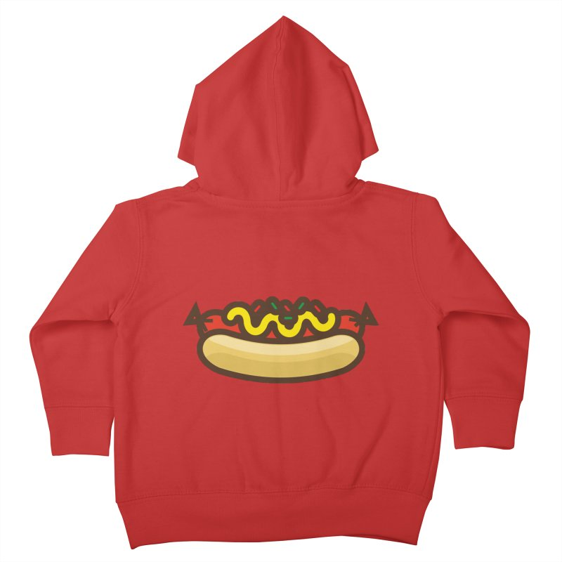 Summer Hotdog Kids Toddler Zip-Up Hoody by libedlulo