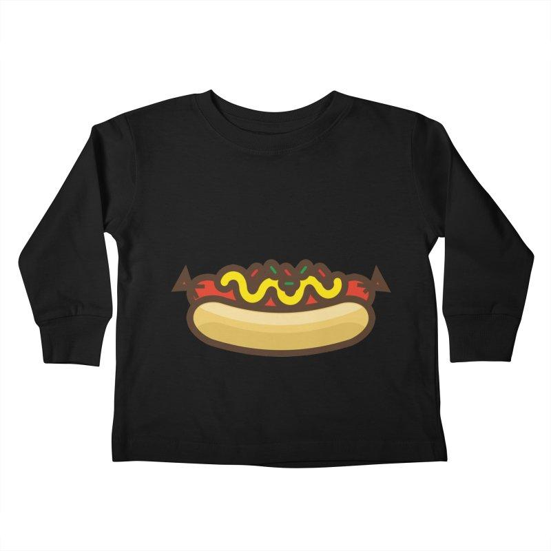 Summer Hotdog Kids Toddler Longsleeve T-Shirt by libedlulo