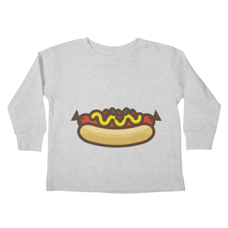 Summer Hotdog Kids Toddler Longsleeve T-Shirt by libedlulo